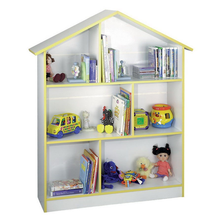 Rack-N-Cabinets Doll House Kids White 45-in W x 55-in H x 12-in D 6-Shelf Bookcase
