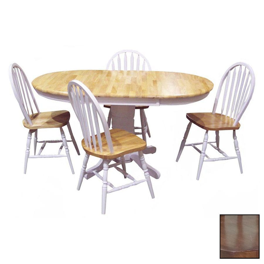 Charmant TMS Furniture Farmhouse Oak 1 Piece Dining Set With Oval Dining Table