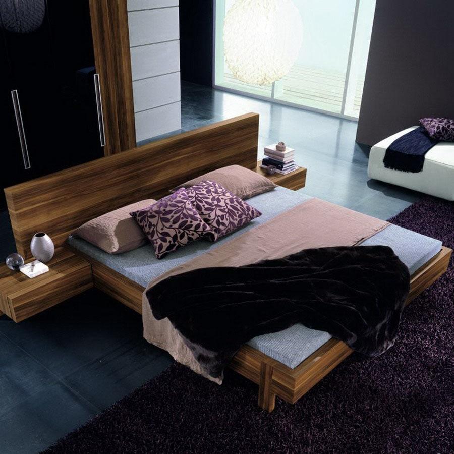 shop rossetto usa gap walnut queen platform bed at lowescom - rossetto usa gap walnut queen platform bed