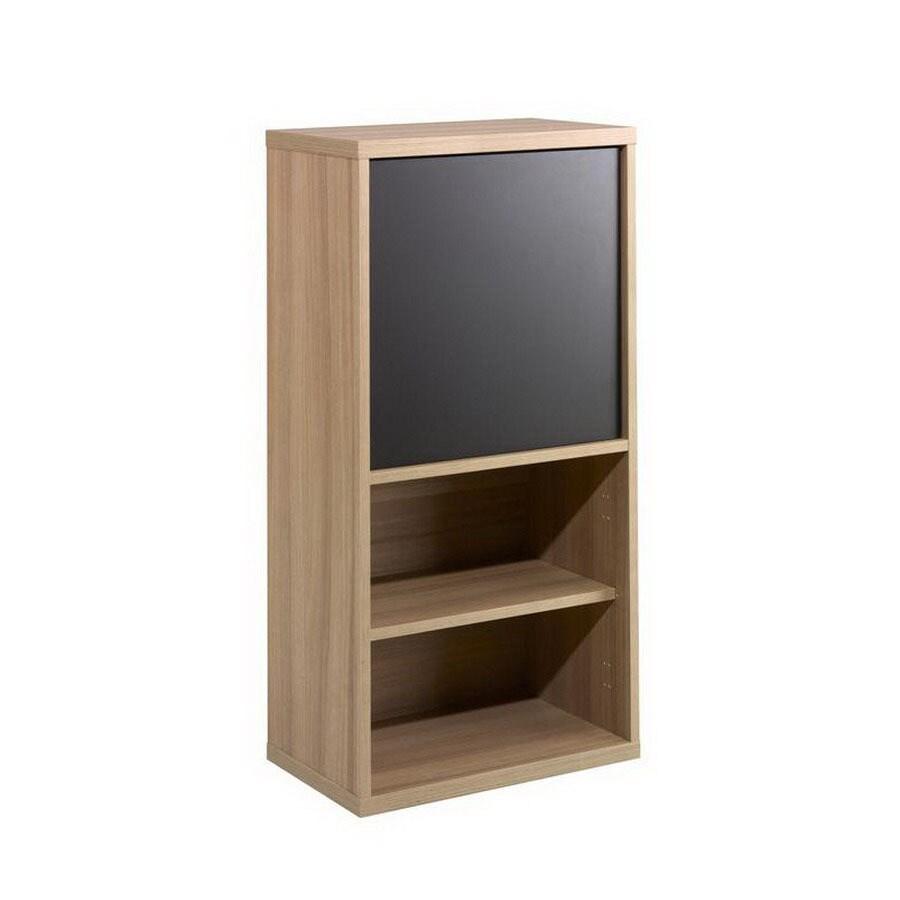 Nexera Infini-T Biscotti and Espresso 37.88-in 4-Shelf Bookcase