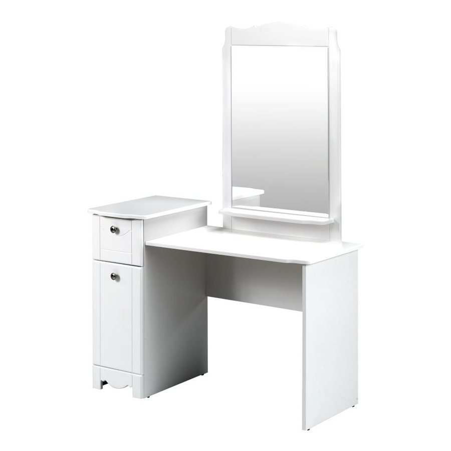 Shop Nexera Dixie White Makeup Vanity With Mirror At Lowes.com