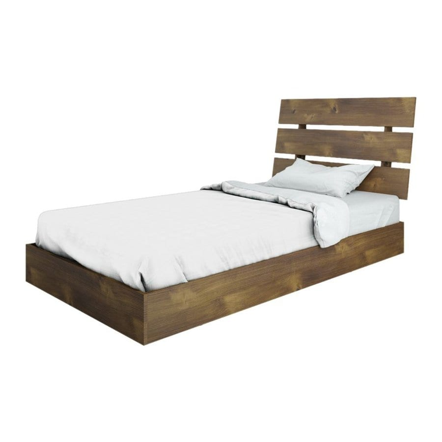 Shop Nexera Nocce Truffle Twin Platform Bed At