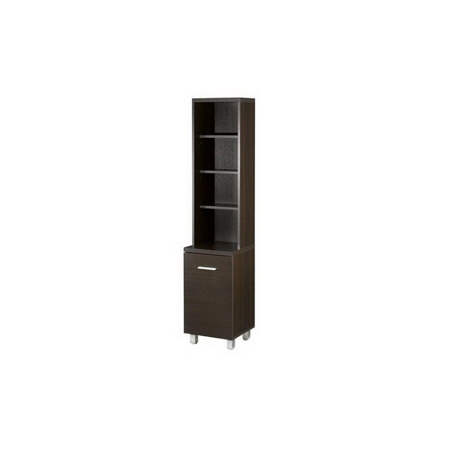 Nexera Element Espresso 60-1/2-in 6-Shelf Bookcase