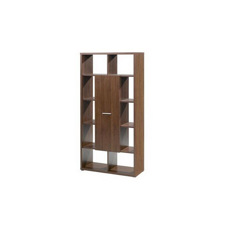 Nexera Concept Cinnamon Cherry 62-in 10-Shelf Bookcase