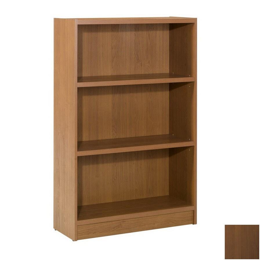 Nexera Essentials Cappuccino 48-in 3-Shelf Bookcase