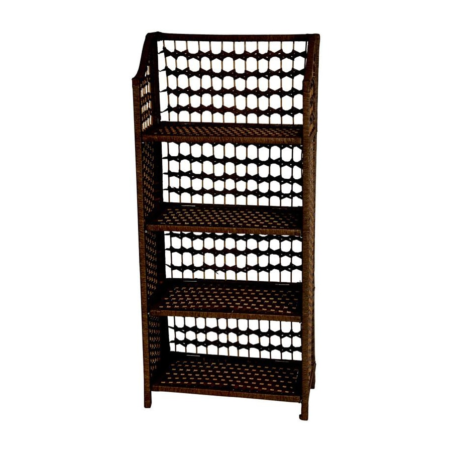 Oriental Furniture 43-in H x 20-in W x 10-in D Wood Freestanding Shelving Unit