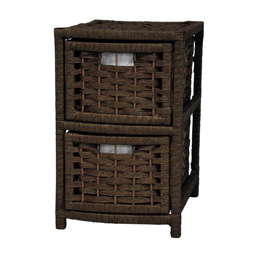 Oriental Furniture Natural Fiber Mocha Standard Chest