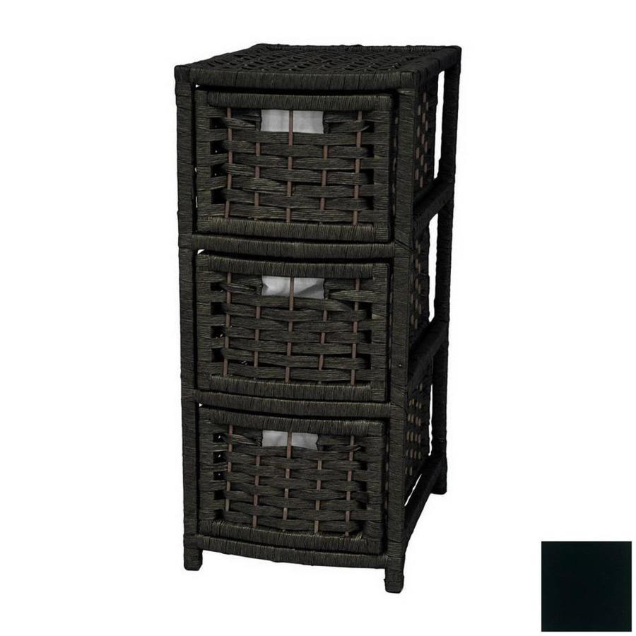 Oriental Furniture Natural Fiber Black Standard Chest