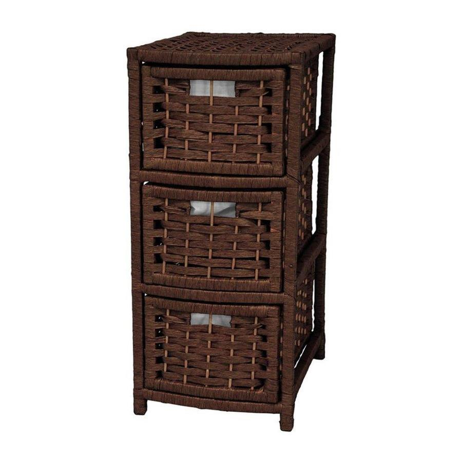 Oriental Furniture Natural Fiber Mocha Standard Chest
