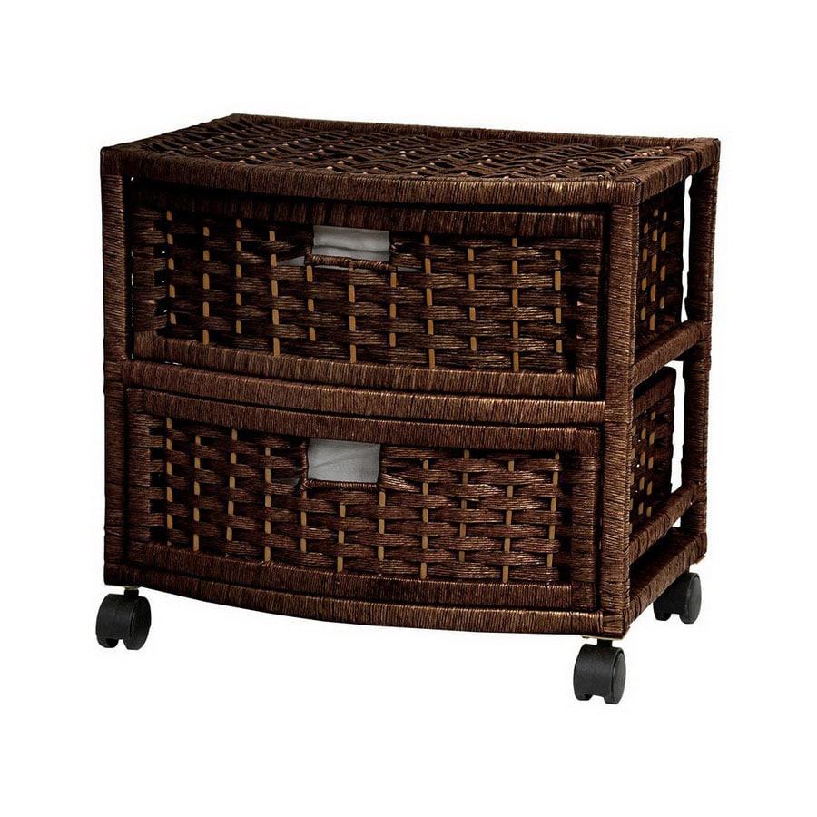 Oriental Furniture Natural Fiber Mocha 2-Drawer Chest