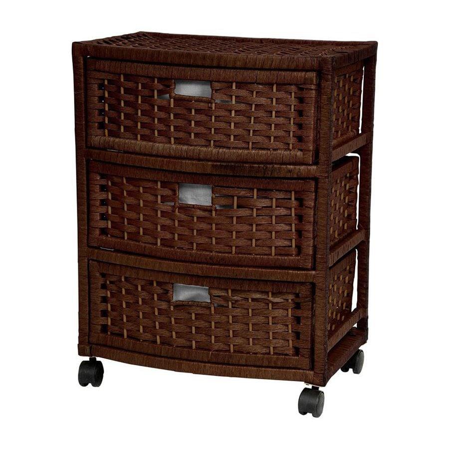 Oriental Furniture Natural Fiber Mocha 3-Drawer Chest