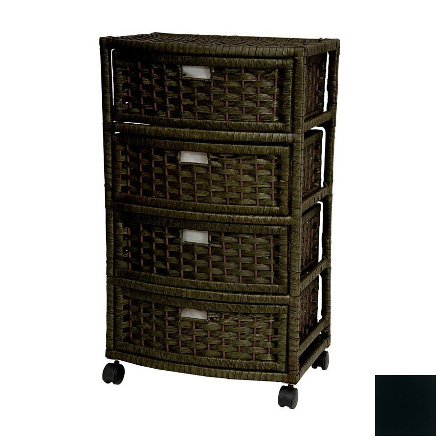 Oriental Furniture Natural Fiber Black Standard Chest