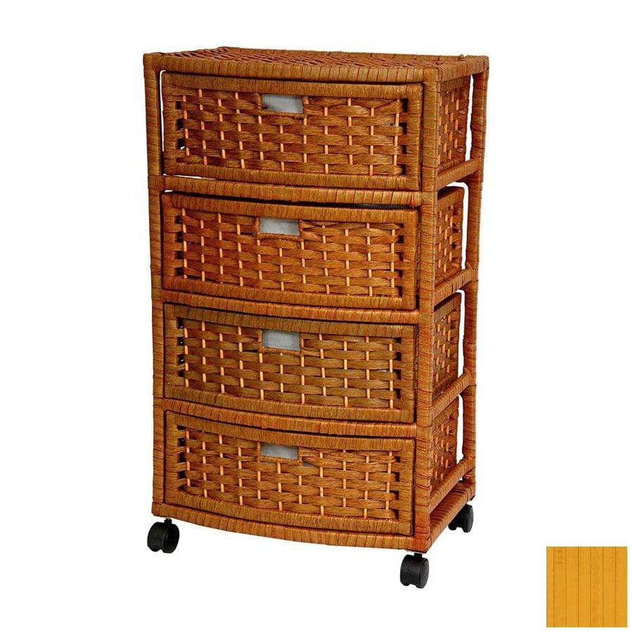 Oriental Furniture Natural Fiber Honey Standard Chest