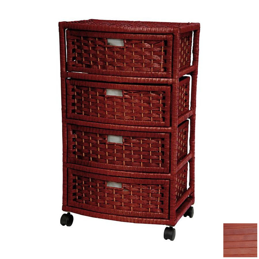 Shop oriental furniture natural fiber mahogany 4 drawer for Oriental furniture