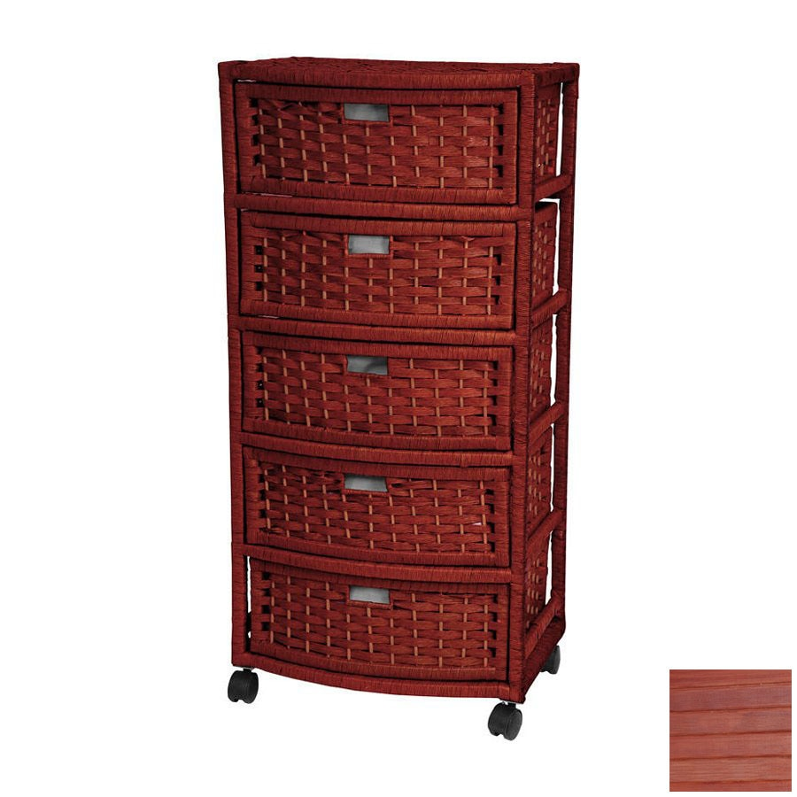 Shop oriental furniture natural fiber mahogany 5 drawer for Oriental furniture