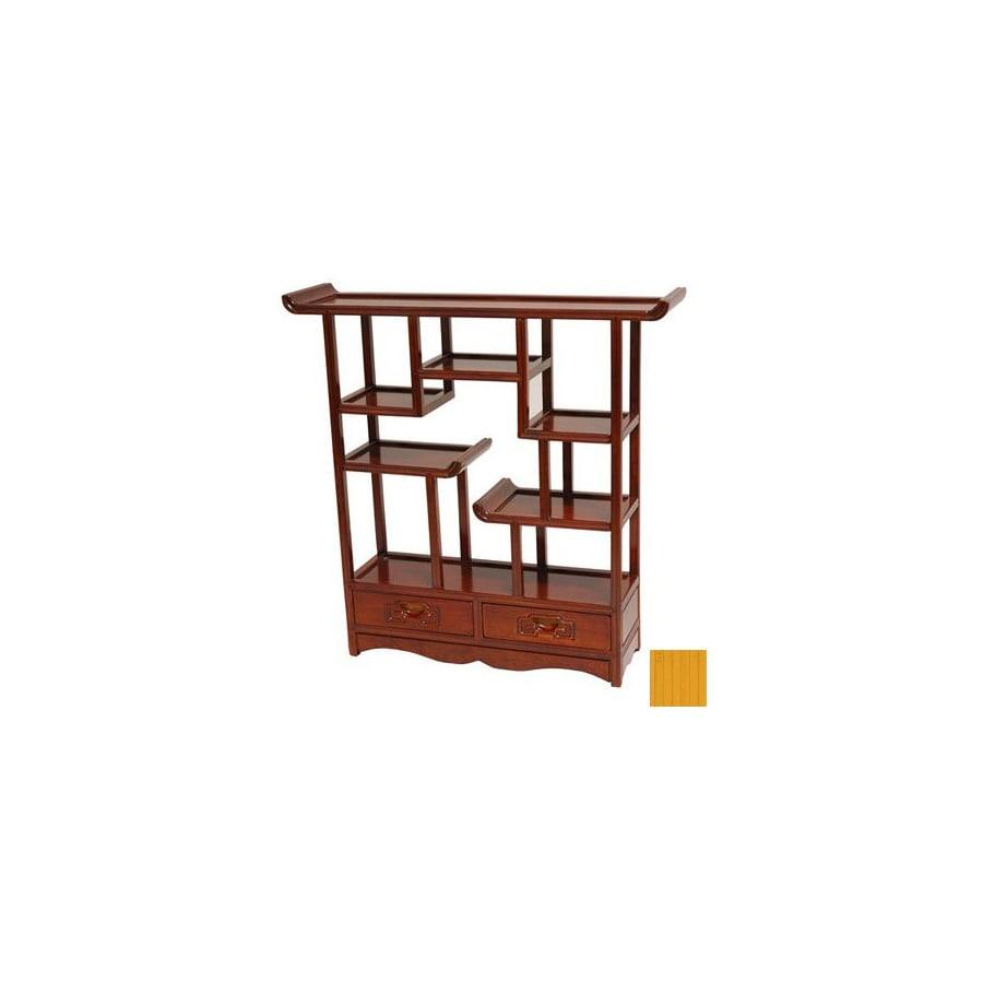 Oriental Furniture Netsuke Honey 20-in 5-Shelf Bookcase