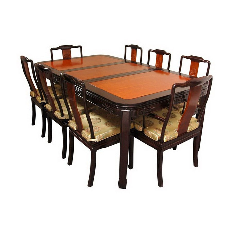 Oriental Dining Table: Oriental Furniture Two-Tone Rosewood Dining Set At Lowes.com