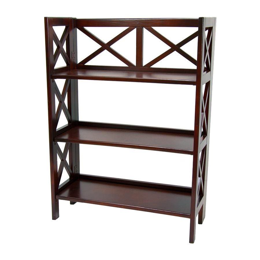 Oriental Furniture Classic Design Cherry 37.5-in 3-Shelf Bookcase