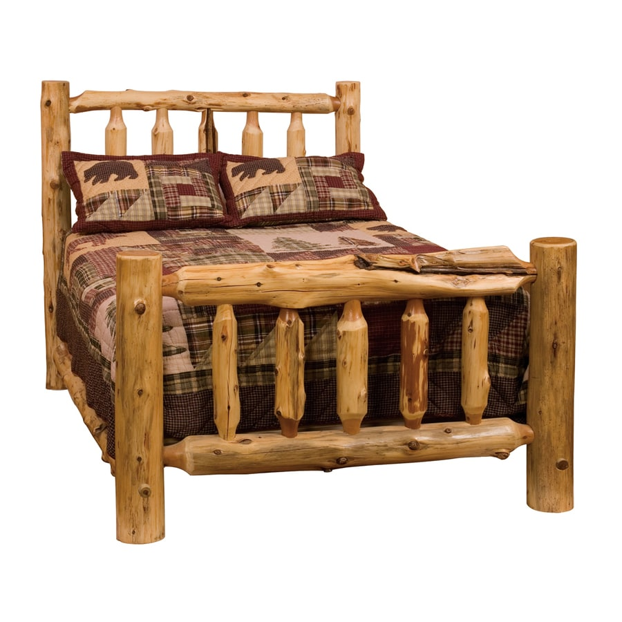 Superieur Log Beds Queen Size. Shop Fireside Lodge Furniture Cedar Traditional Cedar  King Platform .