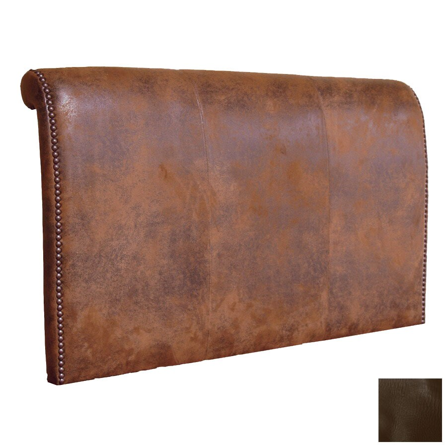 Fireside Lodge Furniture Sierra Brown California King Leather Upholstered Headboard