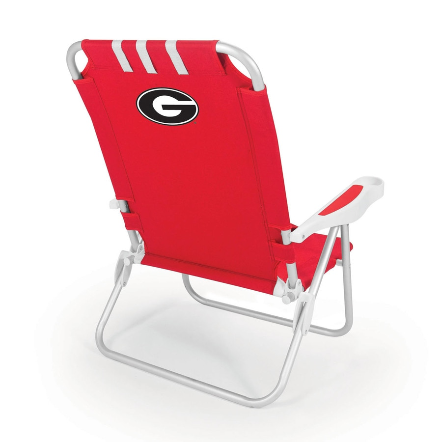 Picnic Time Red NCAA Georgia Bulldogs Steel Folding Beach Chair