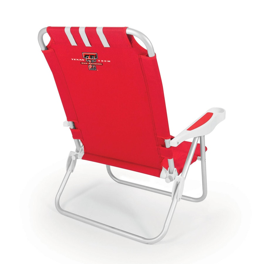 Picnic Time Red NCAA Texas Tech Red Raiders Steel Folding Beach Chair