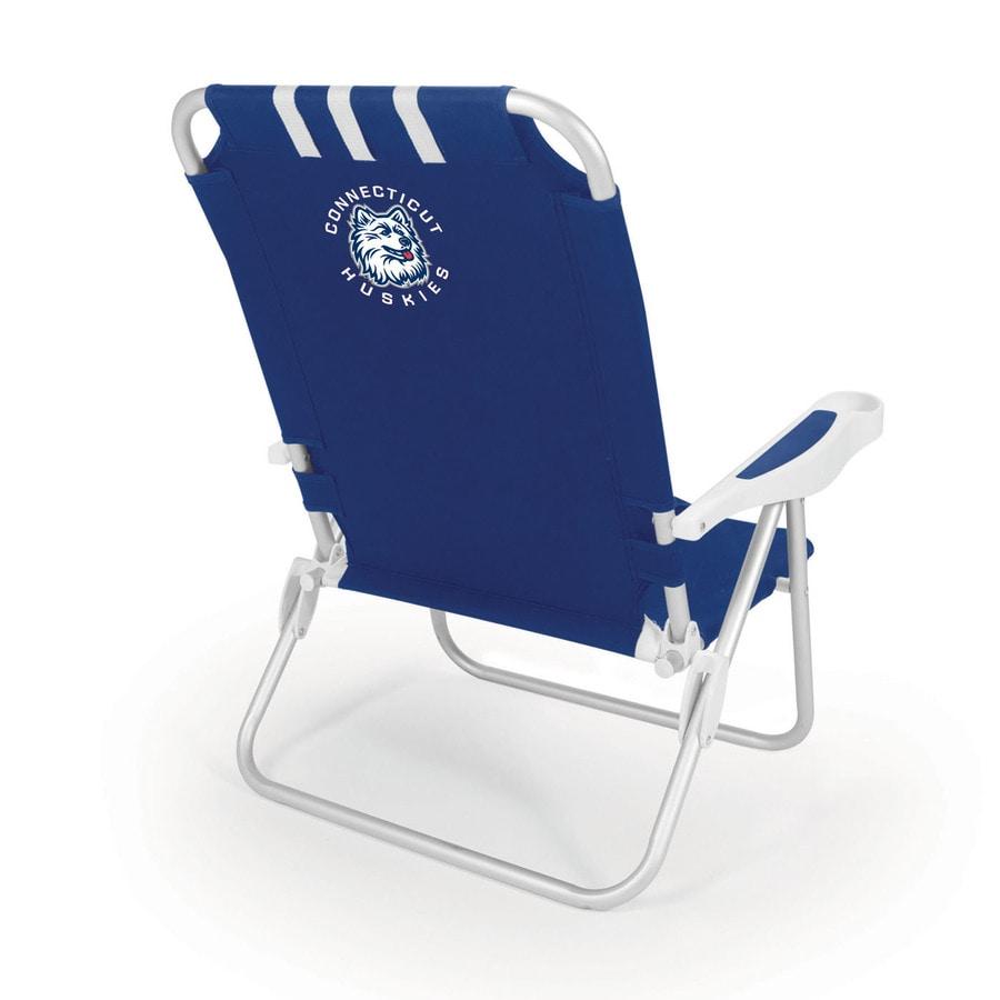 Picnic Time Navy NCAA Uconn Huskies Steel Folding Beach Chair