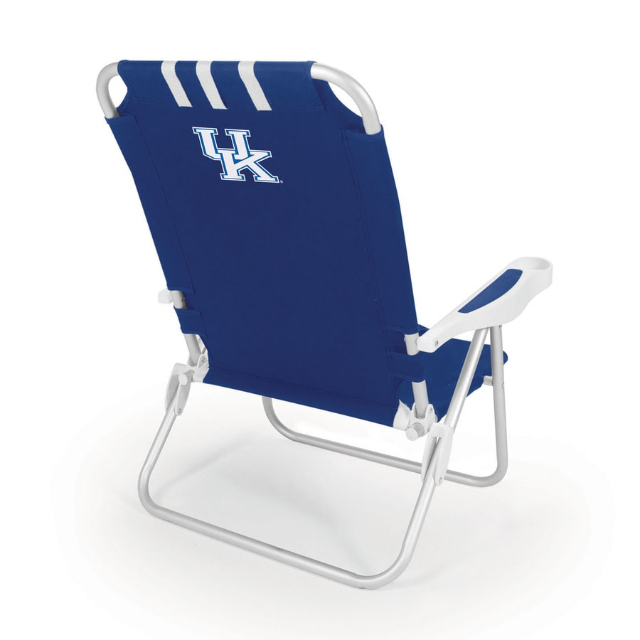 Picnic Time Navy NCAA Kentucky Wildcats Steel Folding Beach Chair