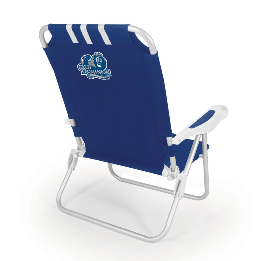 Picnic Time Navy NCAA Old Dominion Monarchs Steel Folding Beach Chair