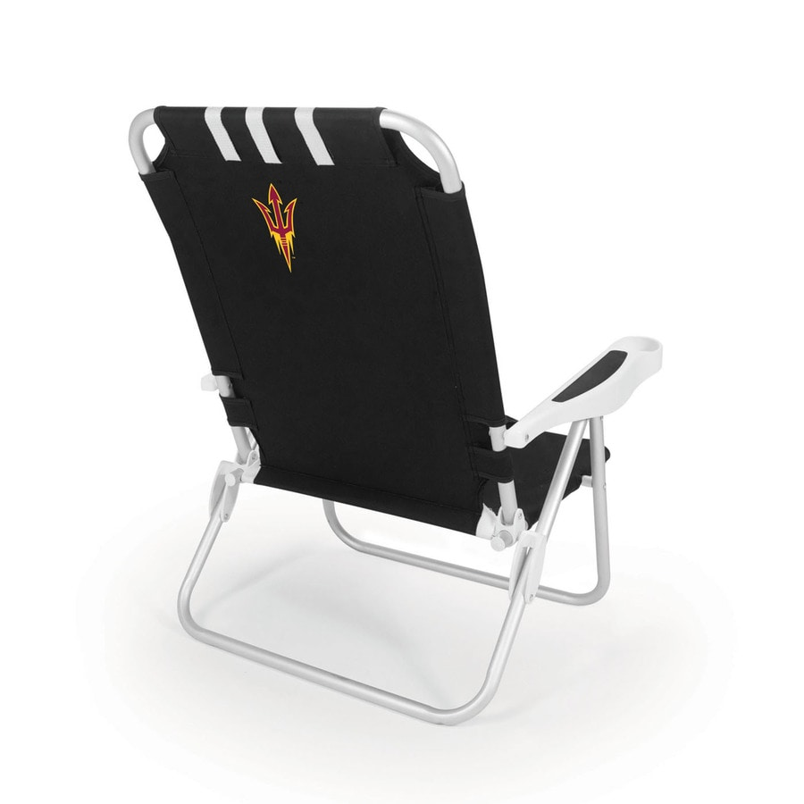 Picnic Time Black NCAA Arizona State Sun Devils Steel Folding Beach Chair