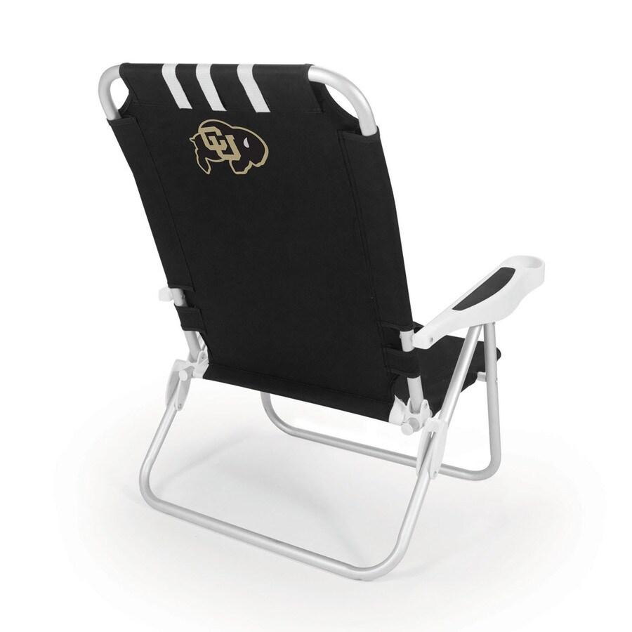Picnic Time Black NCAA Colorado Buffaloes Steel Folding Beach Chair
