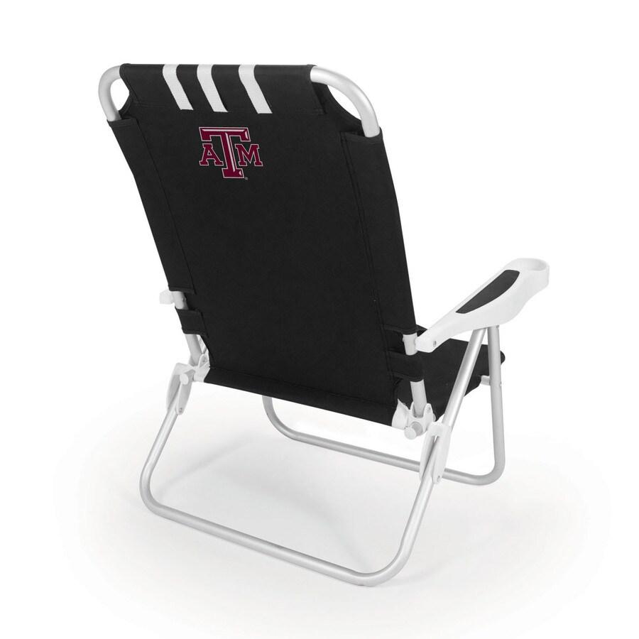 Picnic Time Black NCAA Texas A&M Aggies Steel Folding Beach Chair