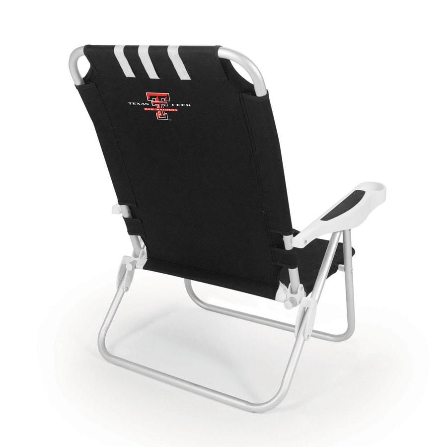 Picnic Time Black NCAA Texas Tech Red Raiders Steel Folding Beach Chair