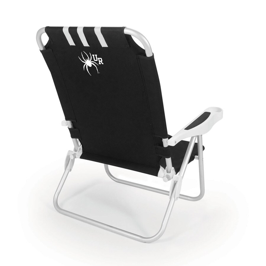 Picnic Time Black NCAA Richmond Spiders Steel Folding Beach Chair