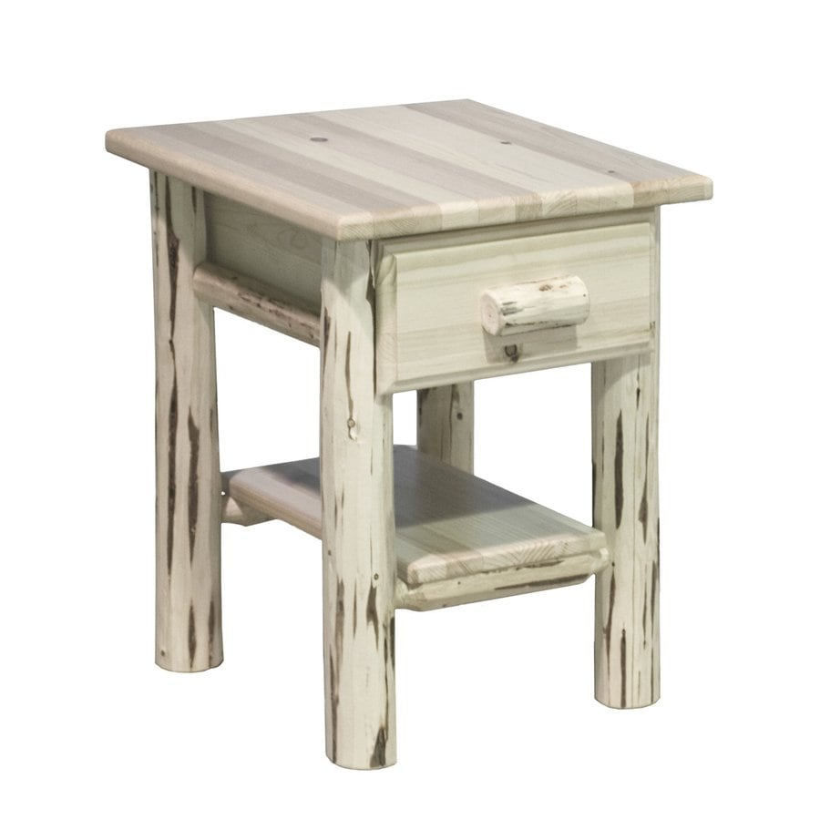Montana Woodworks Montana Clear Lacquer Pine Nightstand