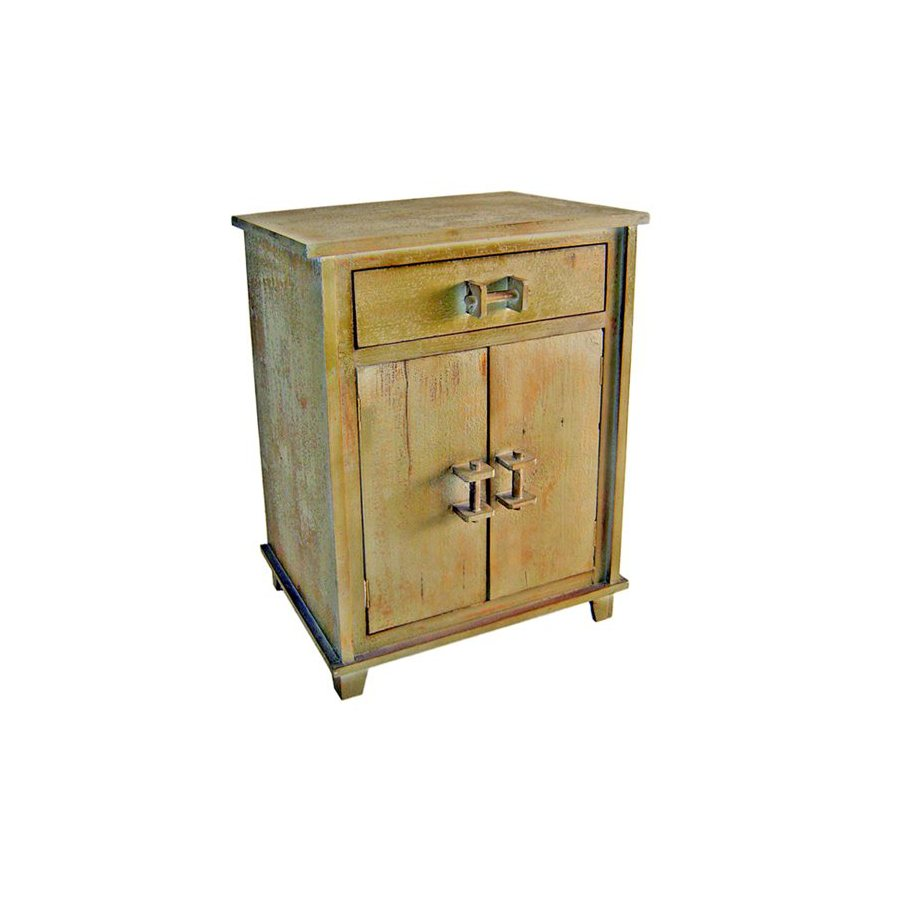 Cheung's Shabby Chic Light Grey Nightstand at Lowes.com