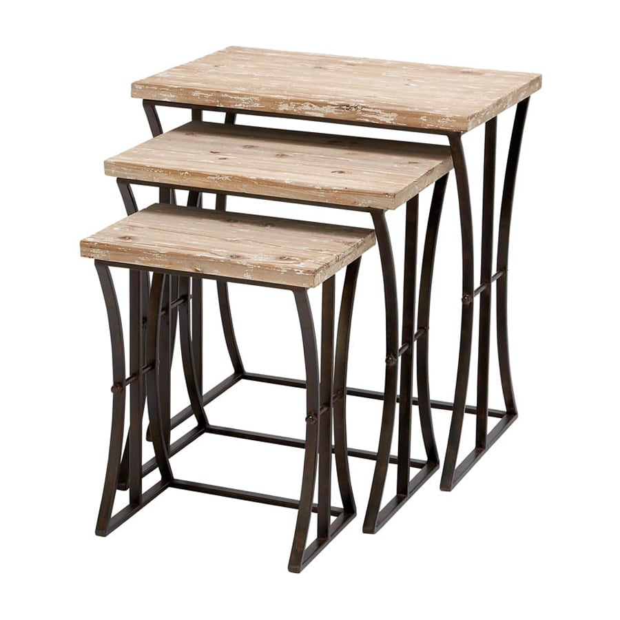Woodland Imports 3-Piece Brown Accent Table Set