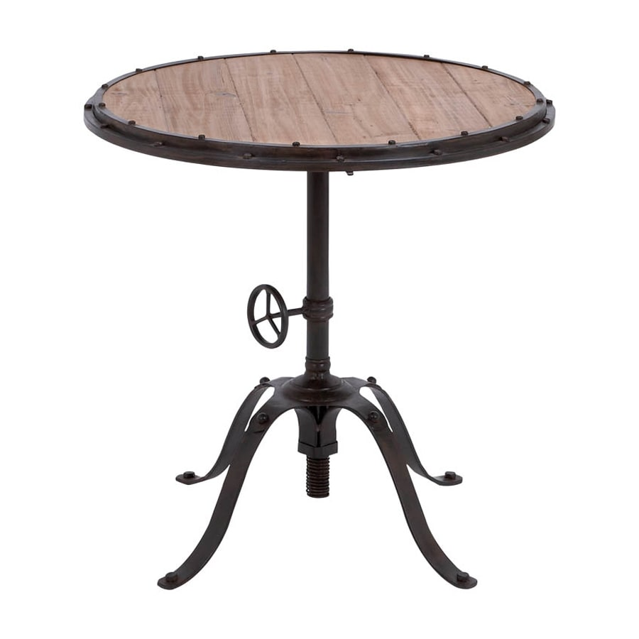 Woodland Imports Accent Black Round Dining Table
