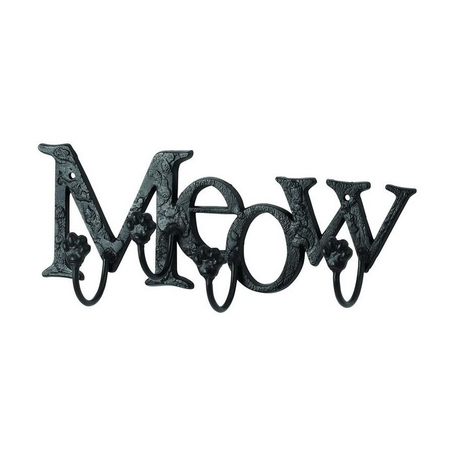 Woodland Imports Meow 4-Hook Mounted Coat Rack