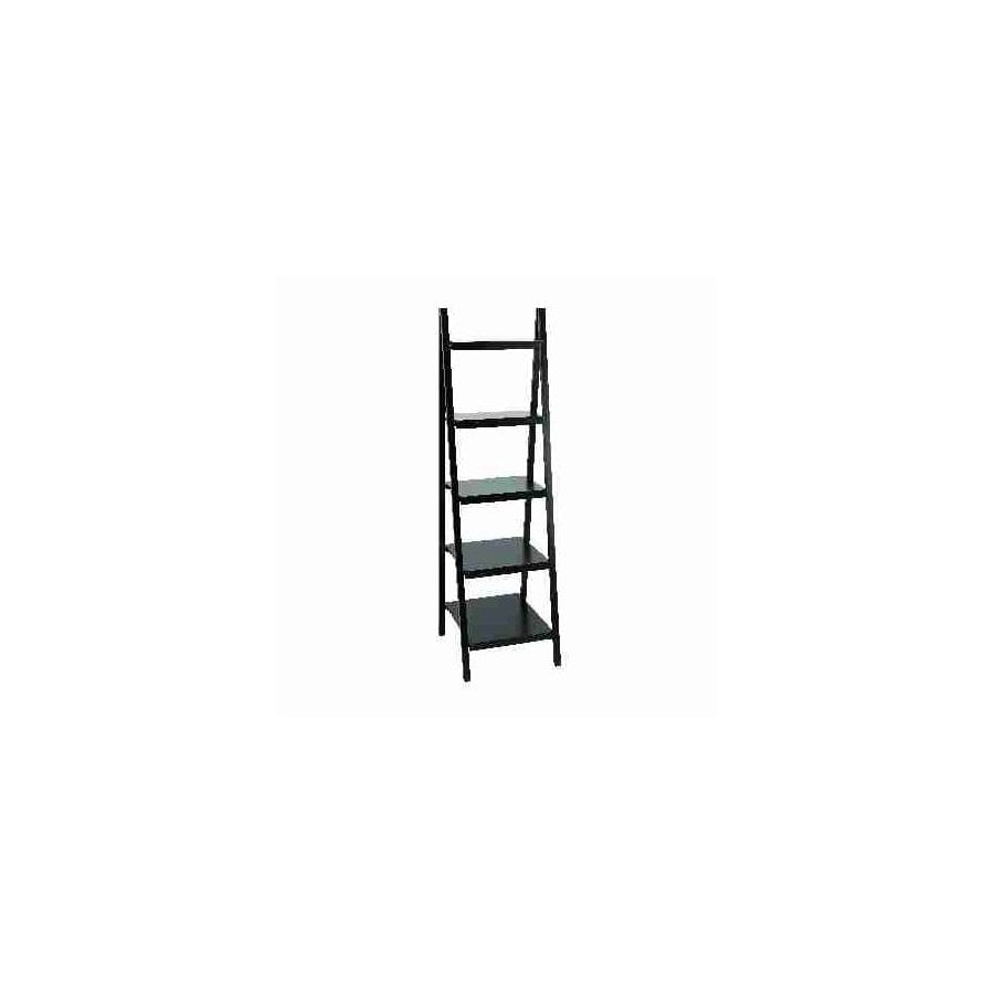 UMA Enterprises Black 66-in 5-Shelf Bookcase