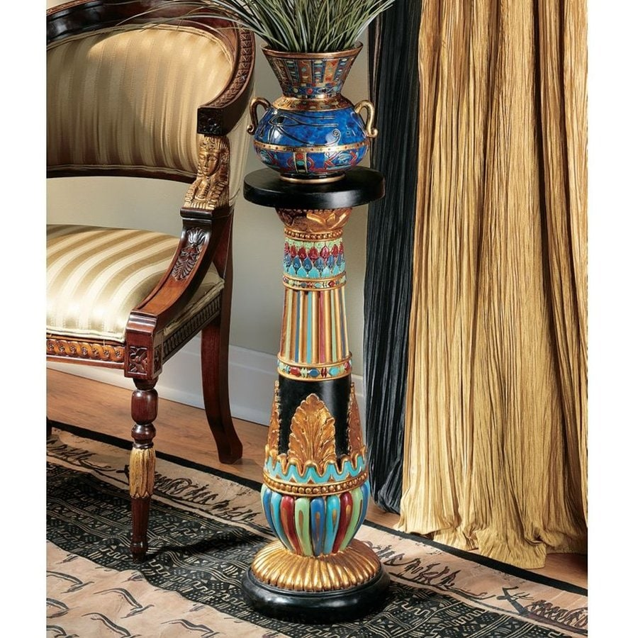 Design Toscano Regal Egyptian Luxor Palette Round End Table