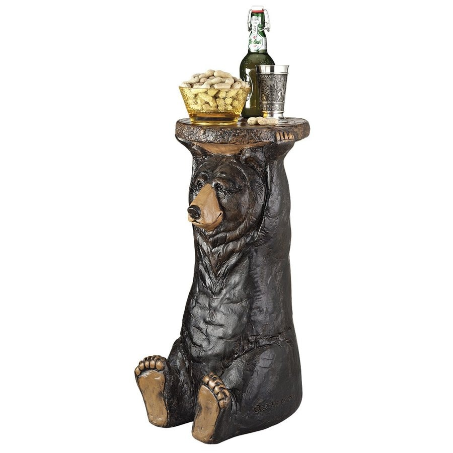 Design Toscano Black Forest Bear Round End Table