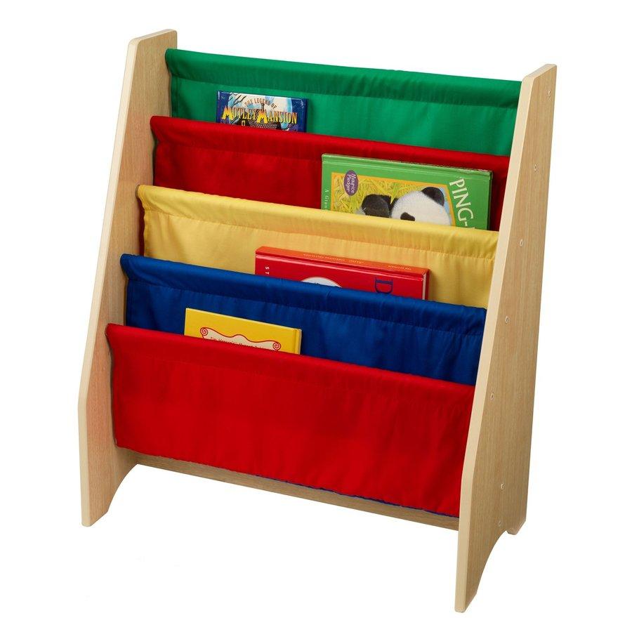 KidKraft Primary 24-in W x 28-in H x 12-in D 4-Shelf Bookcase