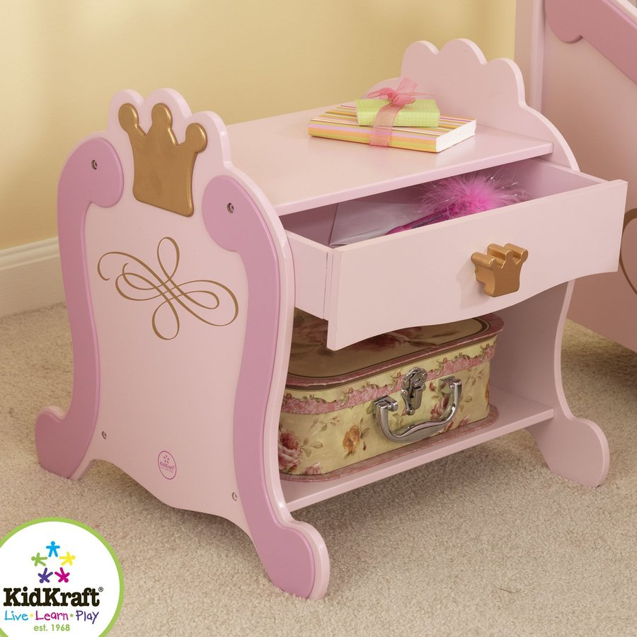 KidKraft Princess Bright Pink/Gold Nightstand