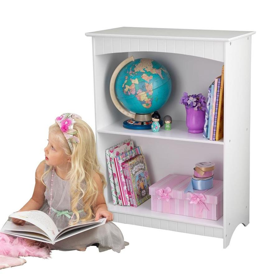KidKraft Nantucket White 32-in 2-Shelf Bookcase