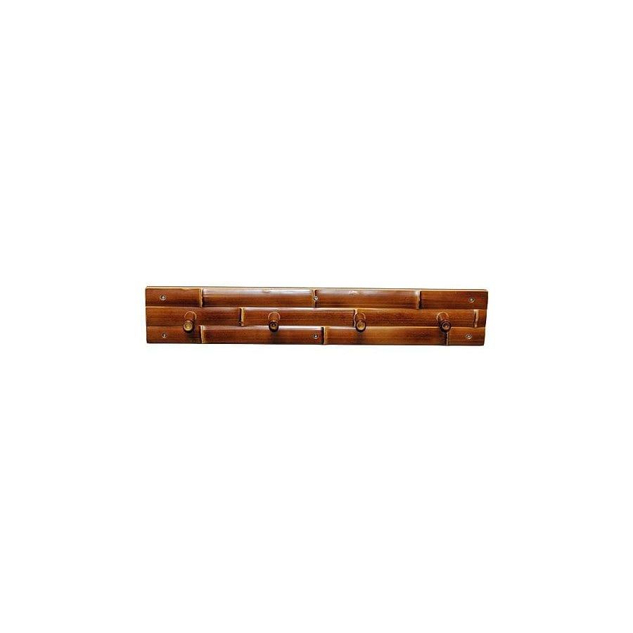 Bamboo 54 4-Hook Mounted Coat Rack