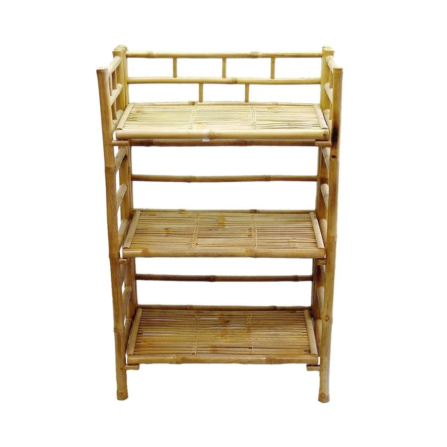 Shop Bamboo 54 Natural Bamboo Wood 3 Shelf Bookcase At Lowes Com