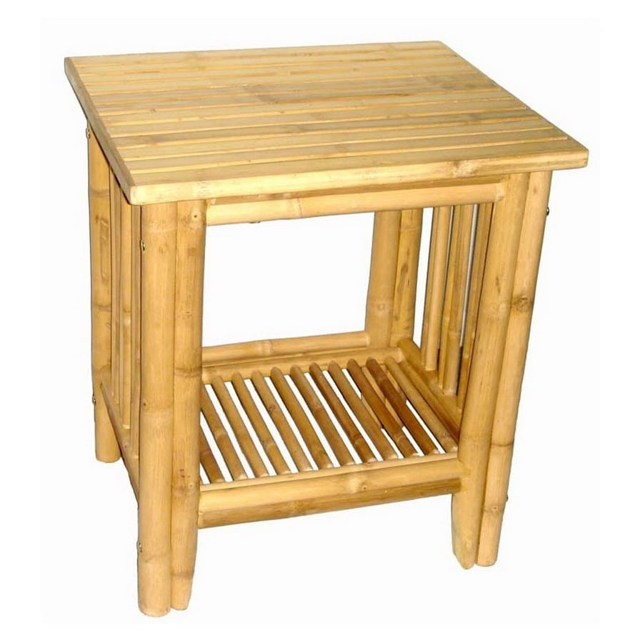 Shop Bamboo 54 Bamboo End Table At Lowes Com