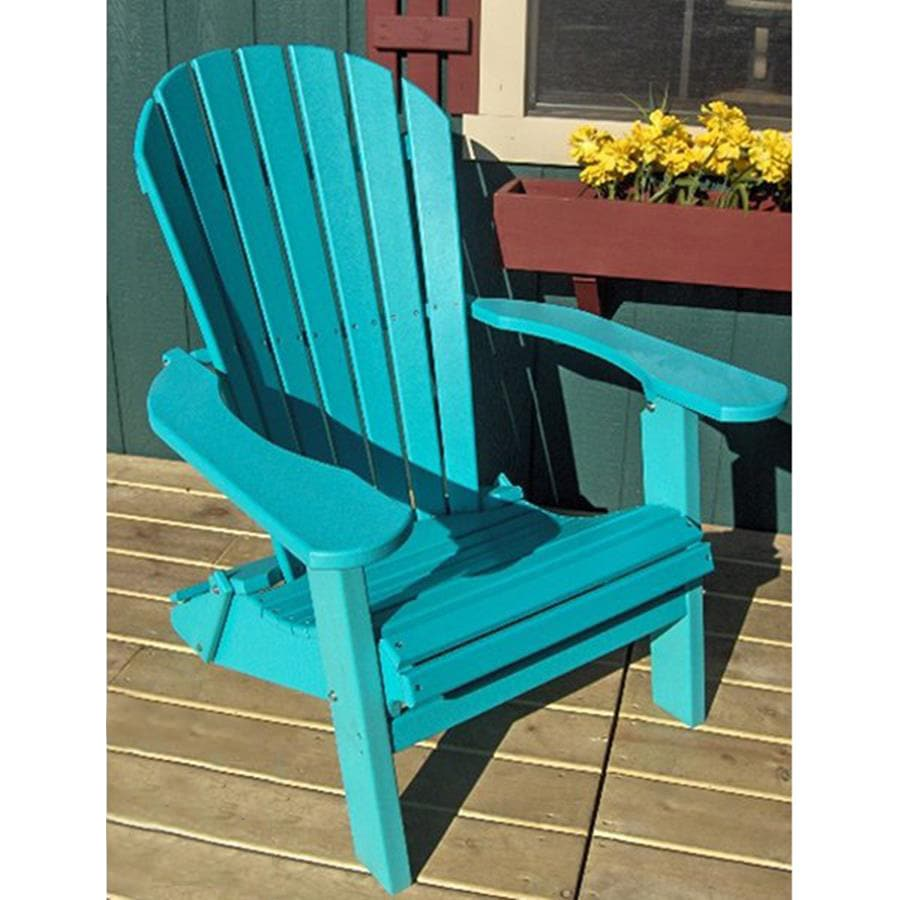 Phat Tommy Teal Recycled Plastic Adirondack Chair At Lowes Com