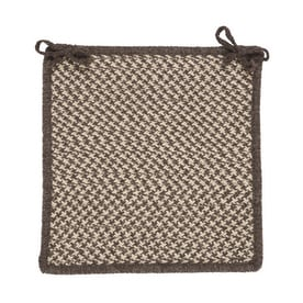 Colonial Mills Natural Wool Houndstooth Espresso Houndstooth Chair Cushion